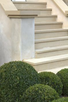 wider step at bottom like this, but bullnose edge and different capping on ends (not sawn edge) wimbledon-sawn-yorkstone-garden-design Outdoor Steps, Patio Steps, Garden Steps, Landscape Design, Garden Design, Landscape Architecture, Landscape Steps, Cabin Design, House Design