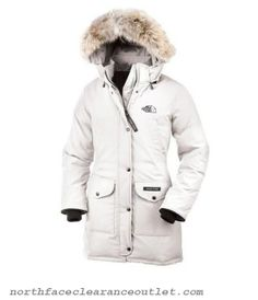 Womens Down Jackets clearance cheap for sale luxurious The North Face Womens Long Down jacket white winter warn coat