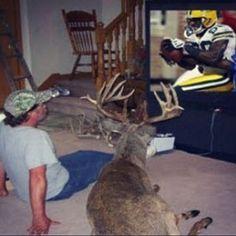 Haha! Please caption this epicness... --posted via www.ONECAMO.com #deerpet #petdeer?