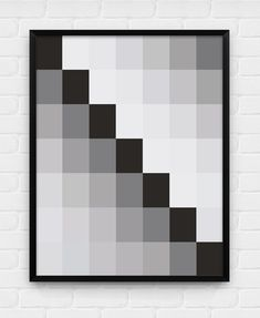 Grey Geometric Squares - Printable Poster - Digital Art, Download and Print JPG