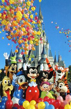 remembering Disney:    Vintage Disney Postcard - Putting the Magic in the Kingdom - Walt Disney Productions by angelagafford on Flickr.