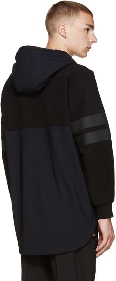Givenchy: Black Technical Hoodie | SSENSE