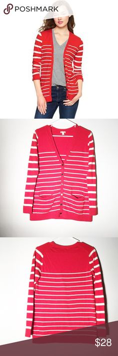 Gap candy stripe cardigan Size medium! Very cute and soft! GAP Sweaters Cardigans