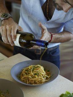 © Fredrika Stjärne Spaghetti with Bottarga and Almond Bread Crumbs Recipe Contributed by Mauricio Couly and Piero Incisa della Rocchetta Click here for full recipe