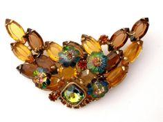Margarita Rivoli Rhinestone Vintage Brooch by TheJewelryLadysStore, $72.00