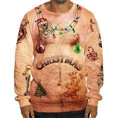 Hosamtel Unisex Men Women T-Shirt Funny Sexy Christmas Print Short Long Sleeve Blouse Tops Pocket Sweatshirt Hoodie Ugly Christmas Shirts, Ugly Christmas Sweater Women, Christmas Clothing, Sweat Shirt, Beloved Shirts, Pull Sweat, Funny Sexy, Hommes Sexy, Sexy Shirts