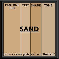 PANTONE SEASONAL COLOR SWATCH SAND