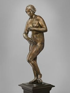 Venus: cast 1641-60 by Hubert le Sueur - Louis XIV displayed this figure in his Medals Cabinet (Viewed as part of the exhibition: Renaissance and Baroque Bronzes From the Hill Collection at The Frick Collection, NYC, January 28, 2014 to June 15, 2014)