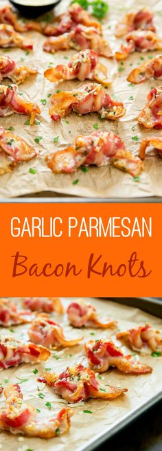 Garlic Parmesan Bacon Knots. A fun and easy appetizer for bacon lovers!