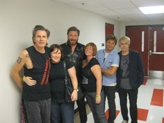 It FINALLY happened, shot #2.   My best friend and I got to meet Duran Duran.   JT and SLB got into a hugging war, and Eileen and I were lucky enough to get caught in the middles. Heaven...just heaven.