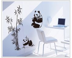 Giant Panda Tree Wall Stickers for TV Sofa Background Living Room Wall Decoration Stickers Tree wall decals for kids room Decor