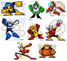 Mega Man 2's Eight Bosses by yooki42 on DeviantArt