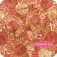 Festive Fall Batiks Pomegranate Sunflowers Yardage SKU# K2551-381