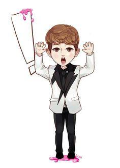 SHINee's Onew FanArt. Beautiful in his weirdess>○< ♥