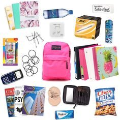 School Bags: Promotional Items That Work – Bags & Purses Organization Xiii, School Supplies Organization, Diy School Supplies, School Goals, School Kit, Life Hacks For School, Middle School Supplies, School Supplies Highschool, Grammar School