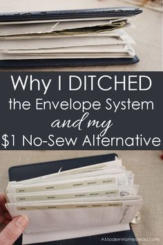 I know the Dave Ramsey envelope system has helped millions, but it's flimsy paper leaves a lot to be desired. I'm loving this no sew alternative that cost less than $1!
