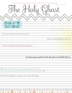Holy Ghost Lesson