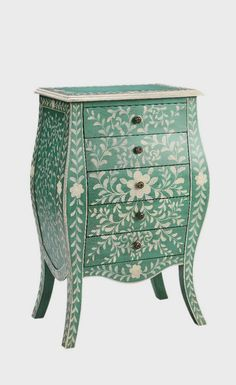 Recreate this using the Indian Inlay stencil from Cutting Edge Stencils. Bloomington Chest - Under the Sycamore