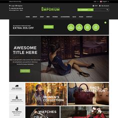 Emporium – eCommerce Bootstrap Template is a new HTML5 template for the jewelry shop. We have included 2 defined layouts for the home page to give you best selections in customization. More Details: https://devitems.com/item/emporium-ecommerce-bootstrap-template/