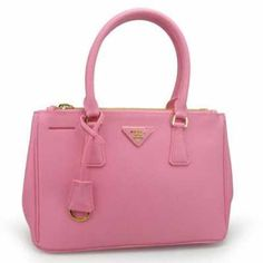 ef40789cfcf9 Prada Small Saffiano Double Zip Executive Tote Handbag BN1801 cherry pink  (BEGONIA)