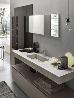 Mobiletto per bagno grande Black Bathroom Floor, Small Bathroom Sinks, Bathroom Toilets, Modern Bathroom, Black Bathrooms, Bathroom Design Luxury, Bathroom Design Small, Home Interior Design, Bad Inspiration