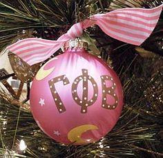 Gamma Phi Beta Christmas Ornament  $24.00