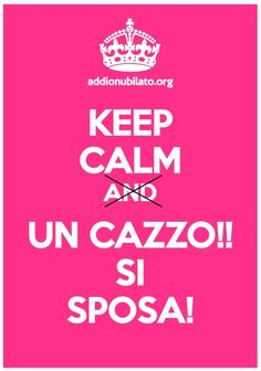 Keep Calm per addio al nubilato! Keep Calm e falle cambiare idea! #keepcalmuncazzo #sisposa #addioalnubilato #nubilato #sisposa Keep Calm, Party, Wedding, Calm, Valentines Day Weddings, Fiesta Party, Hochzeit, Weddings, Mariage