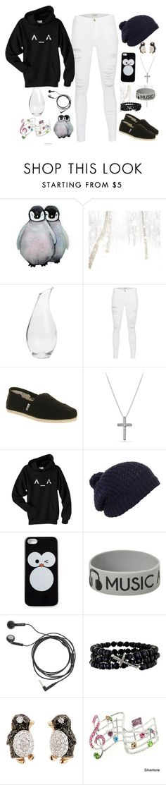 """""""Winter time"""" by vicky2001 ❤ liked on Polyvore featuring Frame Denim, TOMS, David Yurman, Forever 21, J.Crew, Renee Sheppard and Pippo Perez"""