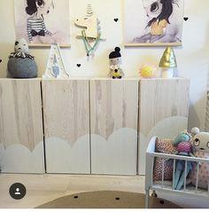 IKEA IVAR Schrank Hack: Mit Wolken bemalen fürs Kinderzimmer