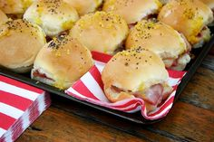 Ham and cheese sliders and more ideas for kids birthday party food.