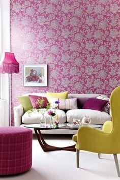Tapeten Trends Floral Papiertapete North End Road Von Little Greene Living Room