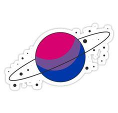 """Bisexual Pride Planet"" Stickers by SavaMari Equality Tattoos, Wallpaper Bonitos, Bi Flag, Pride Tattoo, Ben 10 Alien Force, Gay Aesthetic, Bisexual Pride, Lgbt Love, Flag Art"