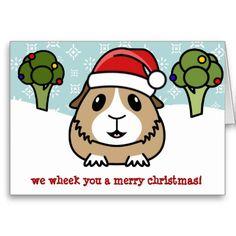 Cartoon Guinea Pig Christmas Card...I could make this!