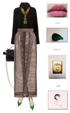 """""""it's only me"""" by likeaprism ❤ liked on Polyvore featuring Jimmy Choo, Givenchy, Faith Connexion, Solace, Michael Kors, oversizedsweater, sweaterweather, Prism and goldjewelry"""