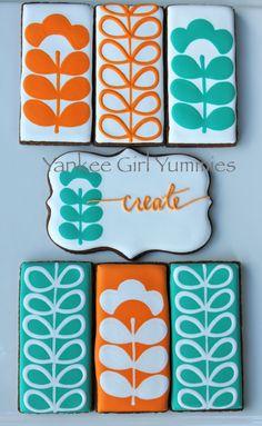 Orla Kiely inspired cookies by Yankee Girl Yummies