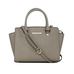 Michael Kors Selma Medium Dark Dune Satchel Handbag