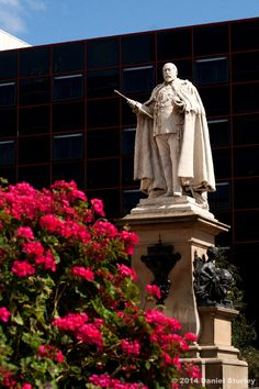 Birmingham UK, the statue of King Edward VII outside Baskerville House in Centenary Square.