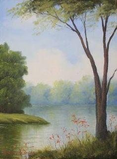 Resultado de imagem para arte em tela paisagem