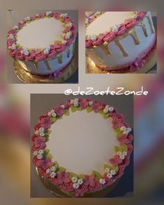 Flower, drizzle cake