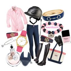 Classical Navy and Pink, created by bacardiandeq on Polyvore