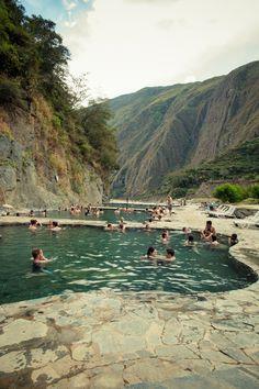 Hot springs, Santa Teresa, Salkantay Trek, Peru.