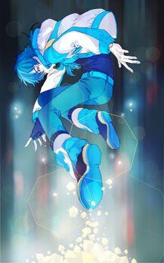 DMMD by: AG ~~Permission to repost was granted by artist. Art Manga, Anime Art, Anime Blue Hair, Overwatch, Nitro Chiral, Deadman Wonderland, Devilman Crybaby, Dramatical Murder, Dream Art