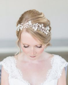Bridal Halo, Bridal Hair Vine, Bridal Headpiece, Bridal Headband