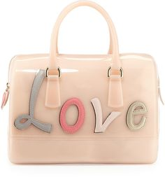"LOVE, perfect for Valentines day! <3 Furla Candy ""Love"" Satchel Bag, Pale Pink"