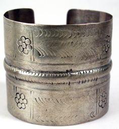 Cuff, Siwa, Silver, Egypt