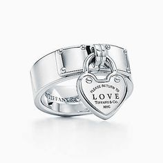 Return to Tiffany® Love lock ring in sterling silver. size 8.5
