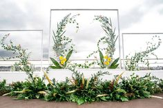 feature walls, altar backdrops, flower installations, and more, all of which are photo worthy! Wedding Fair, Wedding Stage, Floral Wedding Decorations, Flower Decorations, Cool Backdrops, Wedding Drawing, Flower Installation, Wedding Ceremony Decorations, Backdrop Wedding