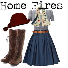 1940s // home fires inspired by onceuponanovel on Polyvore featuring Preen