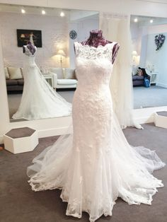 Justin Alexander 8530 UK10 white was £1195 now £840 at Leonie Claire Bridal, Brighton www.leonieclaire.com