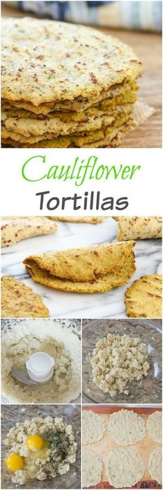 Cauliflower Tortillas. A great low-carb gluten free and paleo friendly substitute!